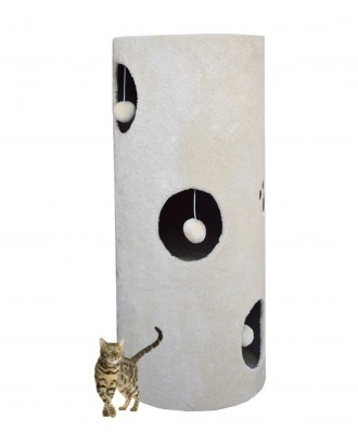 Bokštelis katinams 100cm Baltas